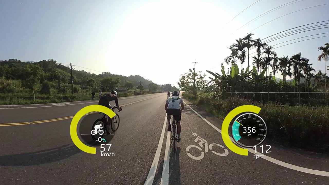 Weekend group ride FPV 360 VR with power meter overlay OSD фото