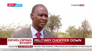 Rescue mission underway after military chopper crash lands at the Oltepesi area in Ngong