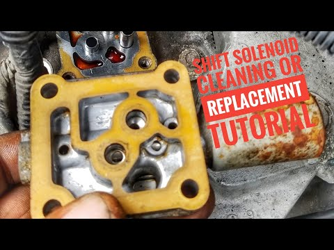 HOW TO CLEAN OR REPLACE TRANSMISSION SHIFT SOLENOID