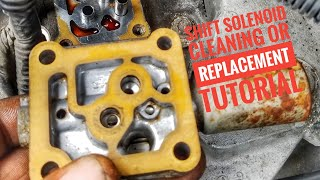 HOW TO CLEAN OR REPLACE TRANSMISSION SHIFT SOLENOID   TUTORIAL
