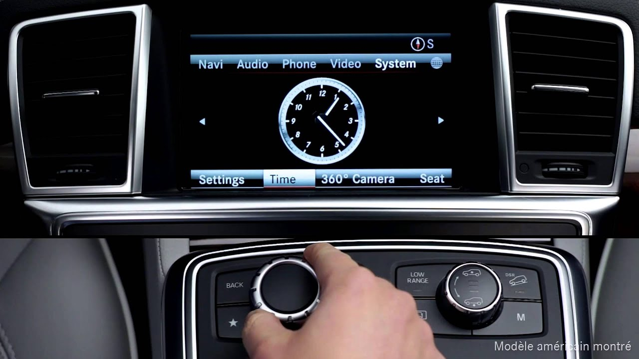 Comment Faire Reglages De L Horloge Comand Mercedes Benz Canada
