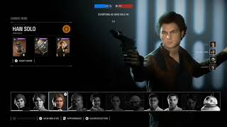Star Wars Battlefront 2| Hans Solo Gameplay| Heroes Vs Villains