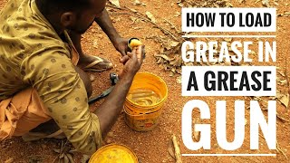 Grease gun   H๐w to load grease and how to apply   JCB 3dx