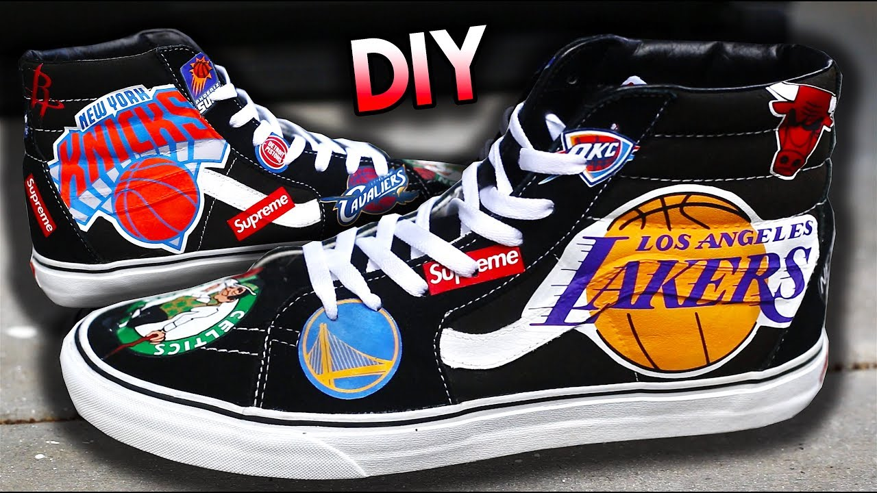How To Nba X Supreme Ss18 Logo Your Shoes Using Heat