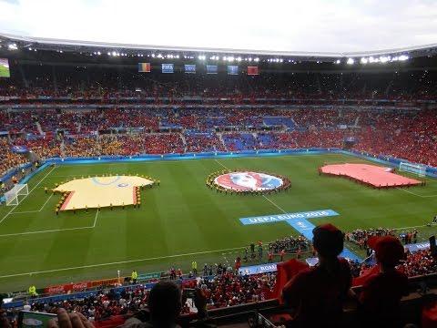 Albania celebrations V Romania Euro 2016- Lyon