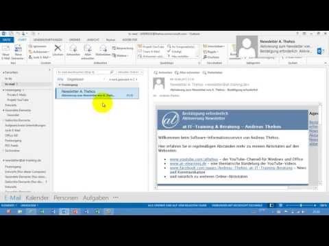 Outlook - E-Mail-Vorlage erstellen - oft-Datei