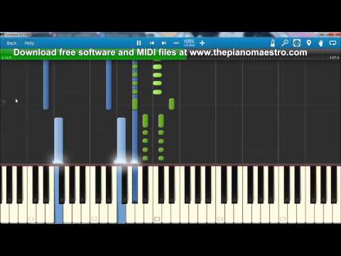 All Of The Lights   Kanye West ft Rihanna  piano lesson with Synthesia