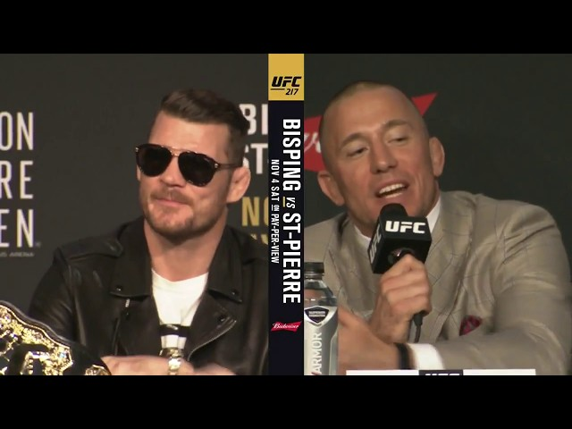 Heated! Full UFC 217pre-fight press conference (Bisping v GSP)