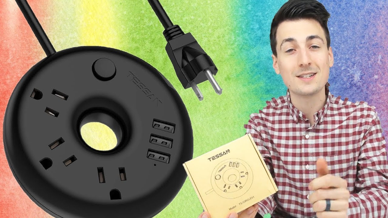 Best Power Strip With Usb 2020 Best Power Strip   TESSAN Power Strip with USB Unboxing Review