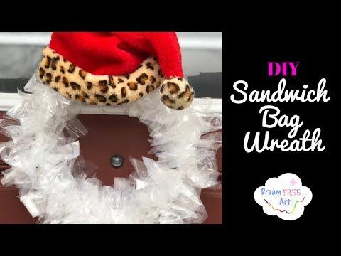 Easy DIY Sandwich Bag Wreath Mp3