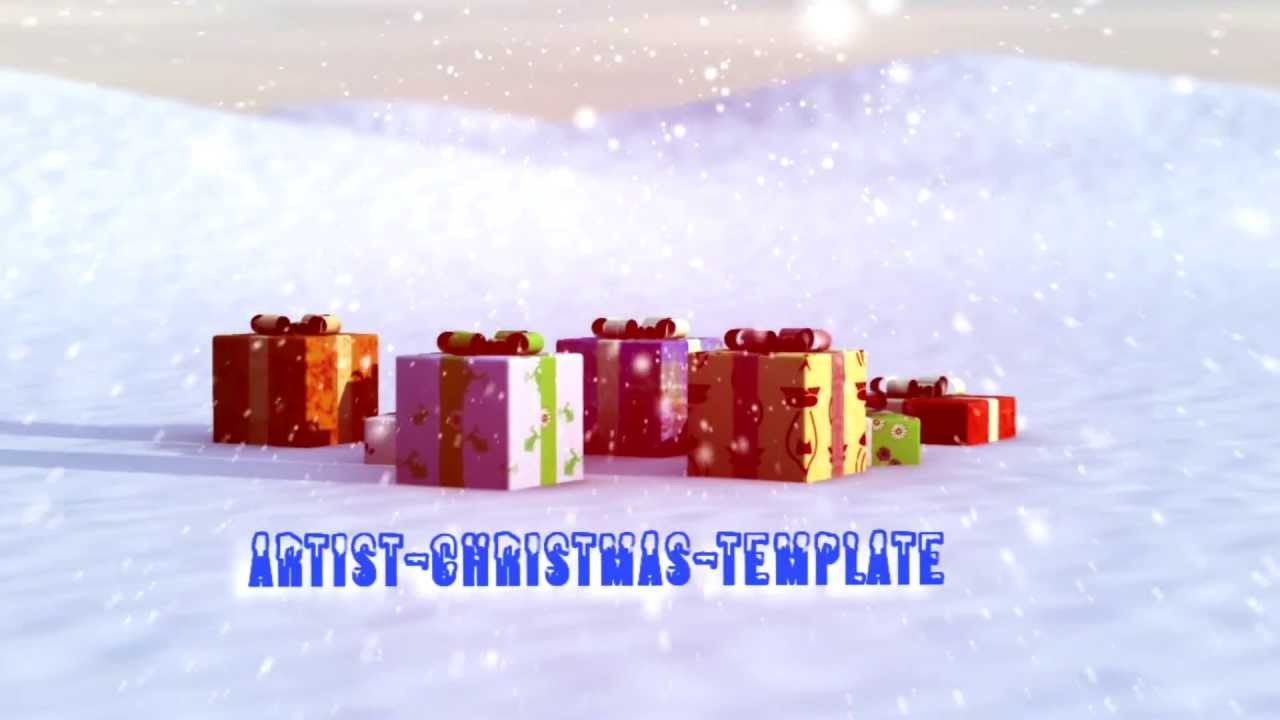 sony vegas pro 10 - free christmas template - youtube, Powerpoint templates
