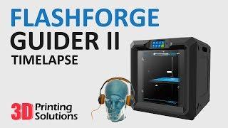 FlashForge Guider II & PolySmooth 3D Printing Timelapse