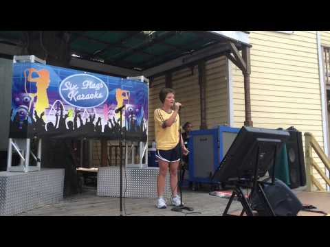 Me singing karaoke at six flags... Before He cheats