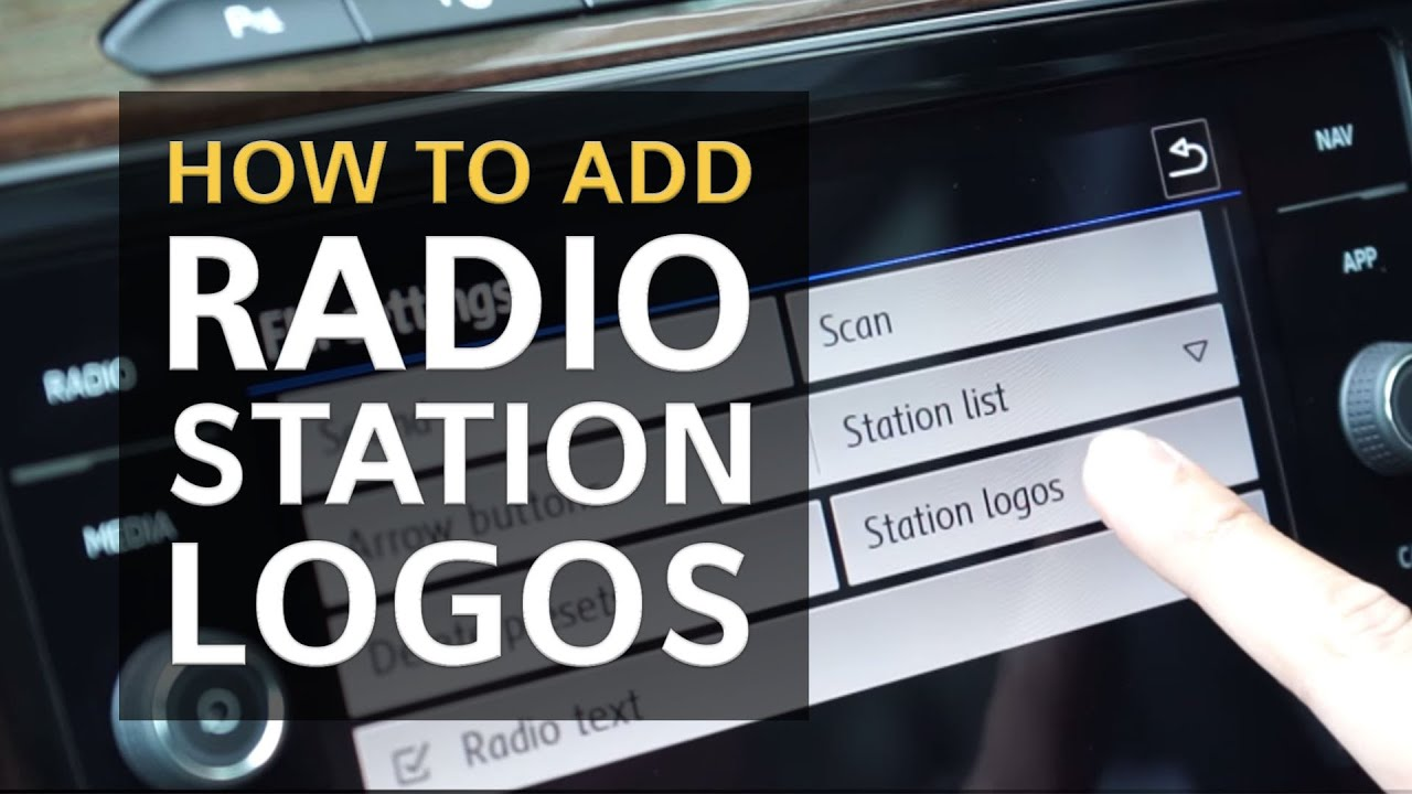 vw tips how to add radio station logos youtube