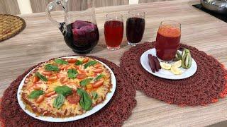 Pizza de vegetales para bien nutrir a nuestros hijos / Licuado energetizante