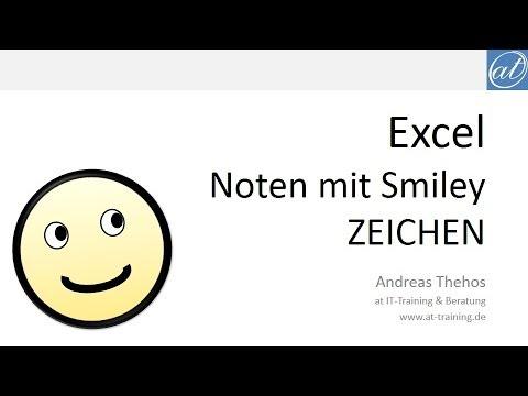 Excel # 478 - Noten mit Smiley - ZEICHEN und VERWEIS