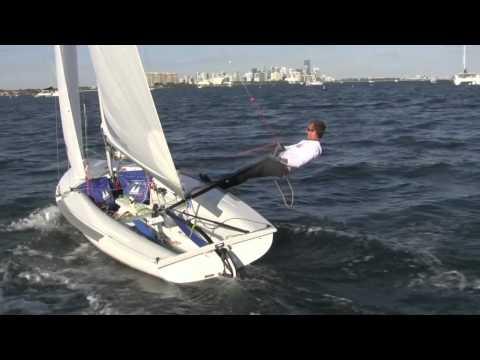 Single handed 470 sailing