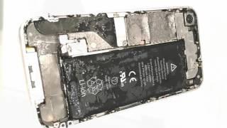 Destroying An Iphone 4  Water & Drop Test