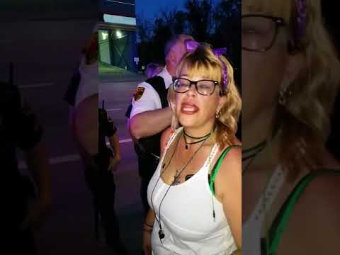 The Rosemont police harass protesters in Rosemont Illinois at the Crowne Plaza Hotel