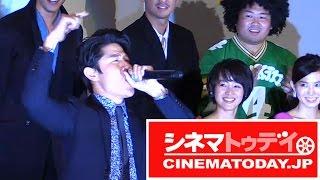 映画『TOKYO TRIBE』初日舞台あいさつが行われ、園子温監督をはじめ、主...