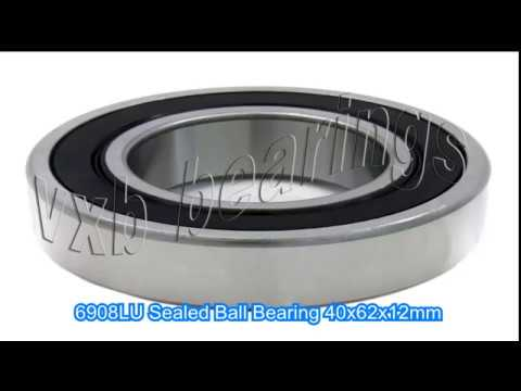 6908LU Sealed Ball Bearing 40x62x12mm