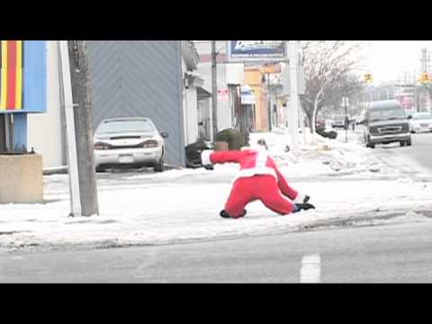 The dancing Santa Claus