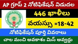 APPSC group 2 notification released    ap group 2 notification    group 2 notification 446 vacancies