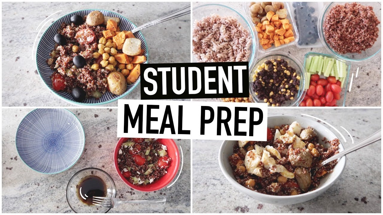 STUDENT MEAL PREP WITH ME | easy meals for university