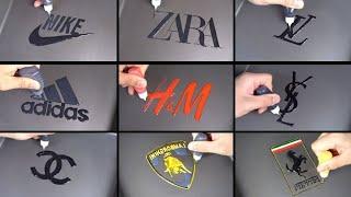 TOP 10 Logo Pancake Art   Nike, Adidas, ZARA, Lamborghini, Louis Vuitton etc
