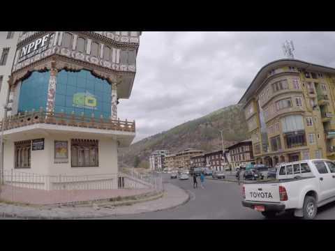 Bhoutan Thimphou Centre ville, Gopro / Bhutan Thimphou City center, Gopro