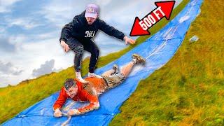 WORLDS LONGEST HUMAN SURFBOARD SLIP 'N' SLIDE