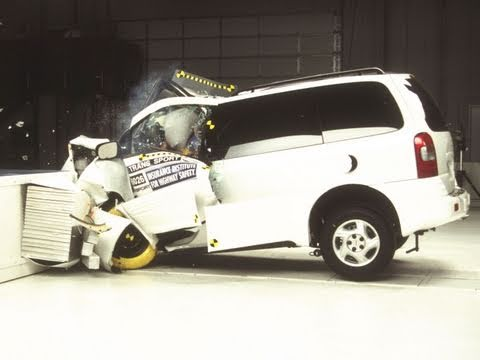 1997 Pontiac Trans Sport Moderate Overlap Iihs Crash Test
