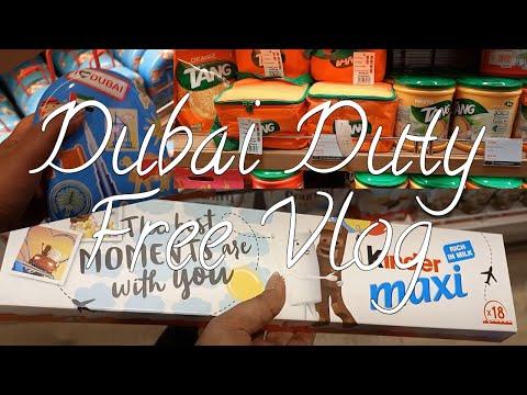 Dubai duty free chocolate and cosmetics