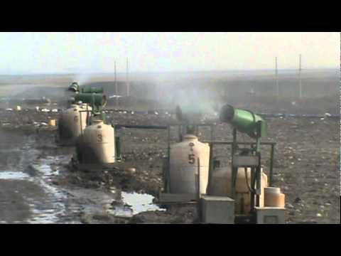 LaoGang Landfill Shanghai China Hurricane Machines Operating