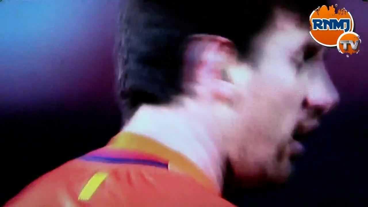 Nueva bronca de Messi a Tello Granada - Barcelona (16-02-2013)