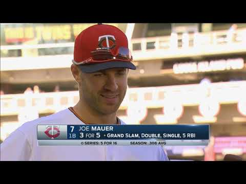 Joe Mauer: It will be a happy flight for the Twins tonight!