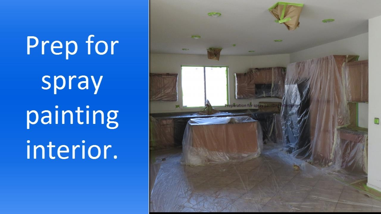 Spray painting a house interior youtube for Painting inside a house