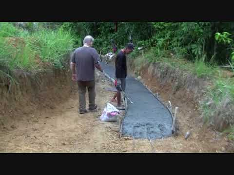 CONCRETING OUR ROAD TUNNEL PROJECT DAY 1 EXPAT SIMPLE LIFE PHILIPPINES