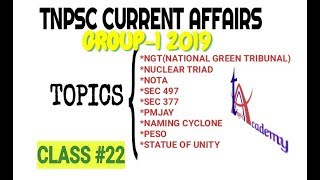 TNPSC Group 1 Series | General Knowledge(GK)  | Class #22 | TNPSC.Academy