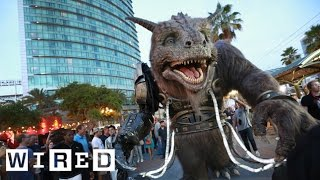The Giant Creature Vs. Angry Dogs Live From San Diego Comic-con 2014-wired