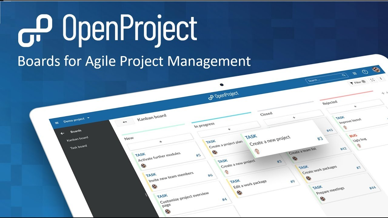 OpenProject Scrum and Agile Boards