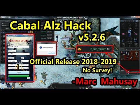 Cabal Alz Hack V5.2.6 Official 2018!! No Survey