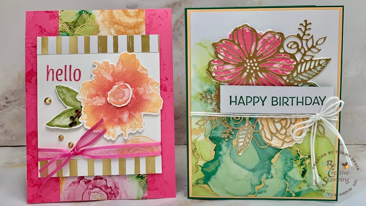 Quick & Easy Cards Using the Artistically Inked Bundle by Stampin'  Up Facebook Live Replay20/20/20