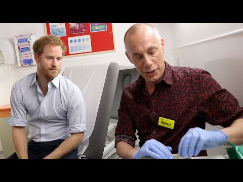 Prince Harry Gets an HIV Test on Facebook Live