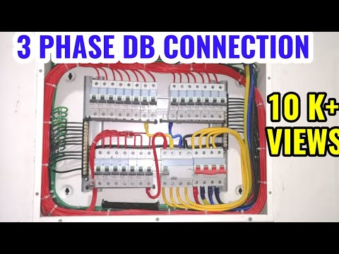 Three Phase Db Connection All Electrical Class Howto Connect Electrical Three Phase Db Dressing Tips Youtube