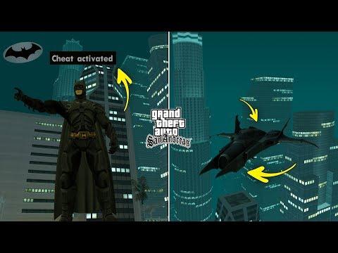 Secret Batman Cheat Code In GTA San Andreas [ALL ABILITIES]