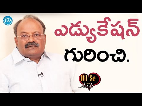 Paruchuri Narendra About His Educational Background    Dil Se With Anjali