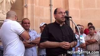 Mgarr Malta: Festa Santa Marija 2010 - Irkant ghall-Vara (auction Santa Marija procession)