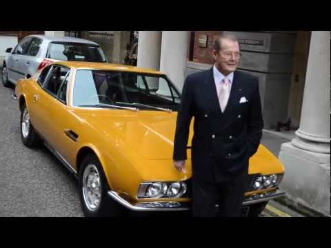 Sir Roger Moore reunited with his Aston Martin DBS from THE PERSUADERS!