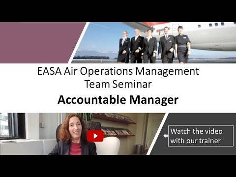 EASA Air Operations Management Team Seminar for Accountable Managers